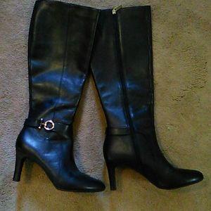 Bandolino Black Equestrian Detail High Boots